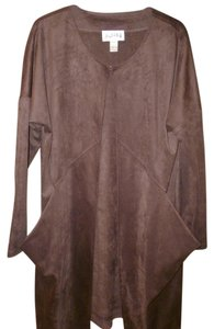 Joseph Ribkoff Faux Suede Chocolate Brown Jacket