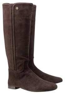 Tory Burch Riding COCONUT BROWN SUEDE Boots