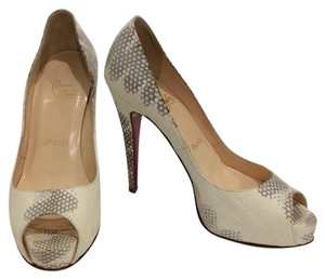 Christian Louboutin Light beige/ with brownish-gray accents Pumps