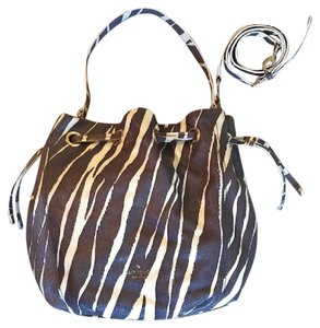 Kate Spade Cobble Hill Drawstring Zebra Katie Shoulder Bag