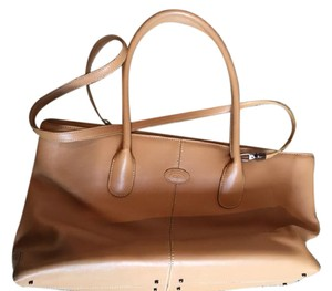 Tod's Leather Tote in Beige