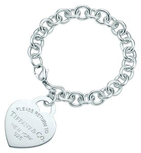 Tiffany & Co. T&Co XL rare and retired heart tag bracelet.