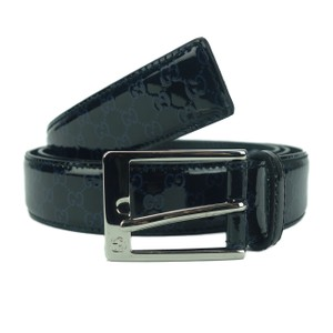 Gucci GUCCI 345658 Men's Lux Micro Guccissima Patent Leather Belt 85 - 34