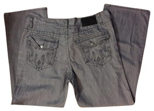 MEK MENS JEANS GRAY 42x34 Straight Leg Jeans-Distressed