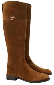 Tory Burch Riding Suede Tan Suede Suede Riding Tobacco Suede Boots
