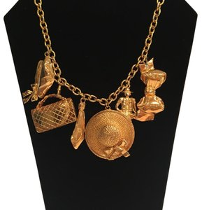 Chanel Vintage Authentic Chanel Hallmark Scarce Gold Plated Charm Necklace