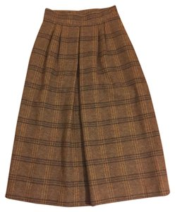 Scotland Yard Vintage Skirt Brown/Tan Plaid