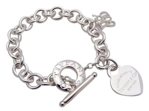 Tiffany & Co. Tiffany Heart and God Toggle Charm Bracelet in Sterling Silver