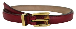 Gucci GUCCI Leather Belt w/Bamboo Buckle Raspberry 80/32 339065 6236