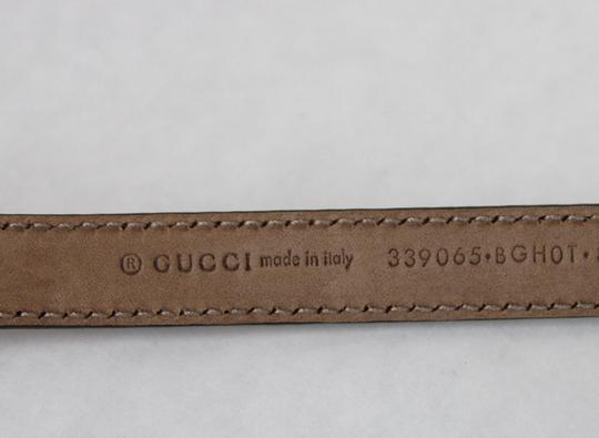 Gucci GUCCI Leather Belt w/Bamboo Buckle Raspberry 80/32 339065 6236 Image 4