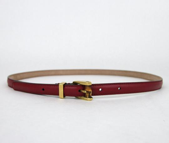 Gucci GUCCI Leather Belt w/Bamboo Buckle Raspberry 95/38 339065 6236 Image 1