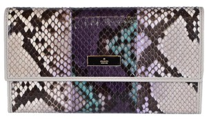 Gucci Gucci Women's 257303 Ombre Python Snakeskin Wallet W/Coin Pocket