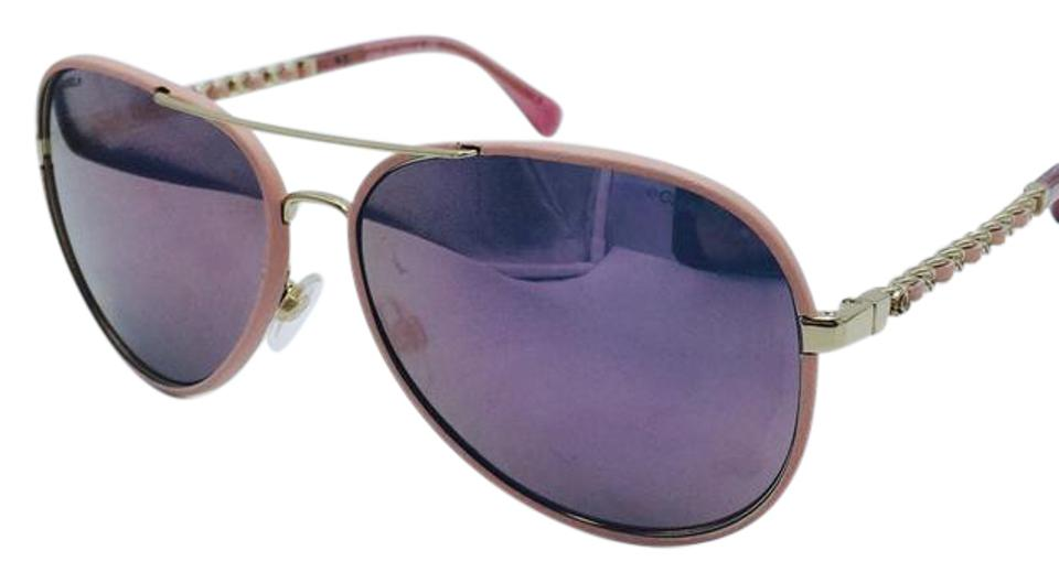 391815320a7 Chanel Chanel Leather Pink Chain Aviator Sunglasses 4219-Q c.395 5R 59 ...