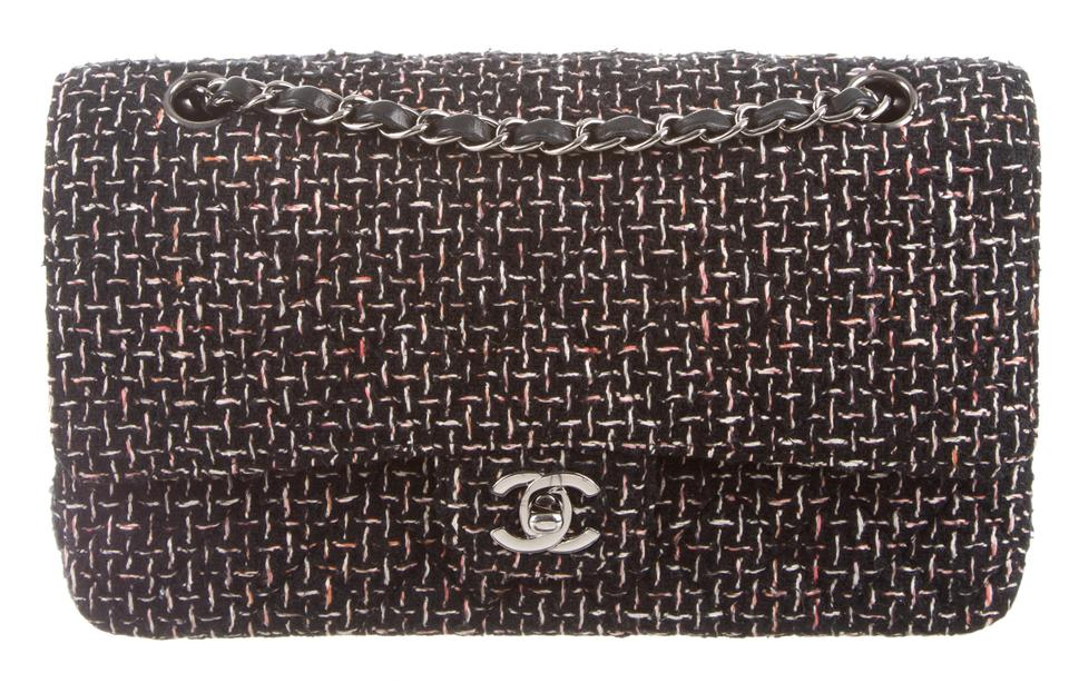 e32aedecc831 Chanel 2.55 Reissue Flap Classic Quilted Cc Logo Medium Large M Black  Multi-color Boucle Tweed Wool Lambskin Leather Shoulder Bag