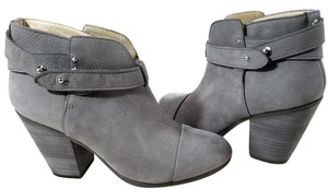 Rag & Bone Suede Ankle Padded Made In Italy Leather Lining Grey Suede Boots