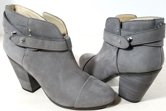 Rag & Bone Ankle Padded Insole Made In Italy Leather Lining Grey Suede Boots Image 1