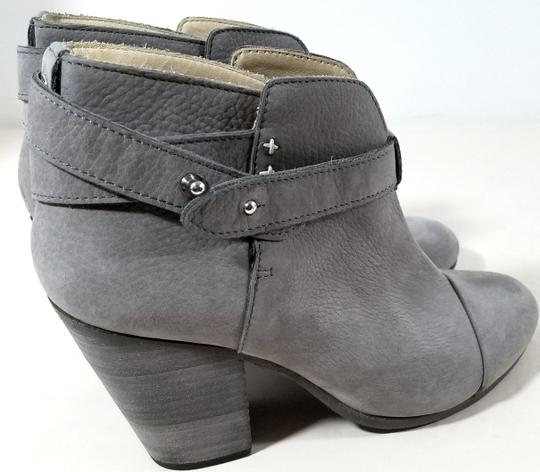 Rag & Bone Ankle Padded Insole Made In Italy Leather Lining Grey Suede Boots Image 5