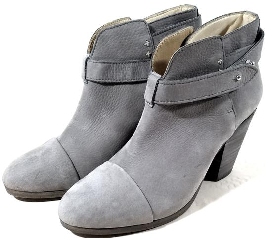 Rag & Bone Ankle Padded Insole Made In Italy Leather Lining Grey Suede Boots Image 6