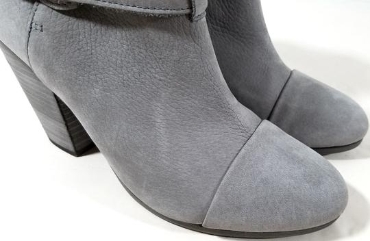 Rag & Bone Ankle Padded Insole Made In Italy Leather Lining Grey Suede Boots Image 7