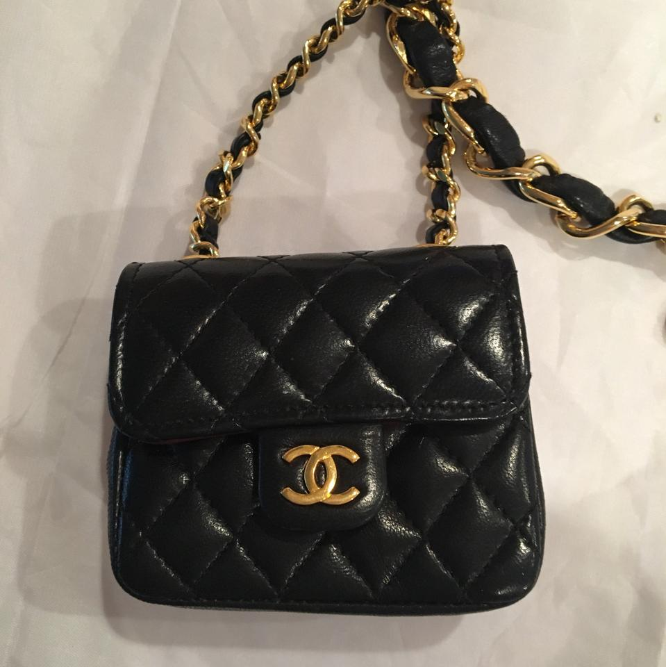 2e16bb2ec74f1b Chanel Vintage Chanel Lambskin Chain Belt With Micro Mini 2.55 Bag Charm  Image 8. 123456789
