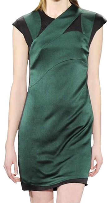 Narciso Rodriguez Green Knee Length Night Out Dress Size 4 (S) Narciso Rodriguez Green Knee Length Night Out Dress Size 4 (S) Image 1