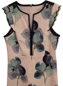Tory Burch Floral Scalloped Sleeveless Dress