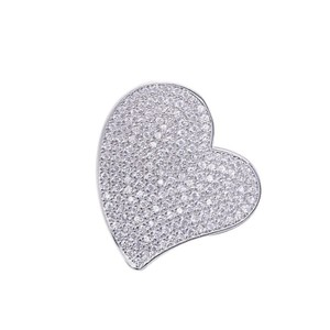 9.2.5 Stunning paved white sapphire heart pendant