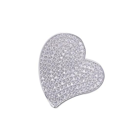 Preload https://img-static.tradesy.com/item/20651056/925-white-stunning-paved-sapphire-heart-pendant-charm-0-0-540-540.jpg