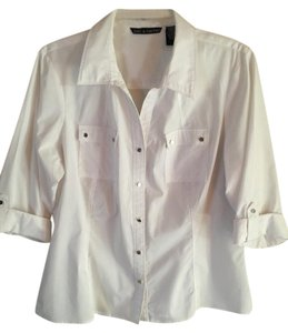 Zac & Rachel Button Down Shirt white