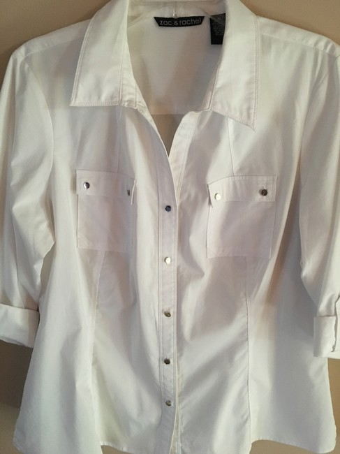Zac & Rachel Button Down Shirt white Image 1