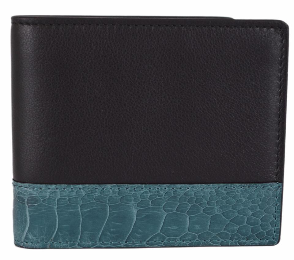 7638d88e8577be Gucci Gucci Men's 256408 Black Mistral Moon Ostrich Skin Leather Wallet  Image 0 ...