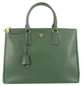 Prada Leather Tote in Green