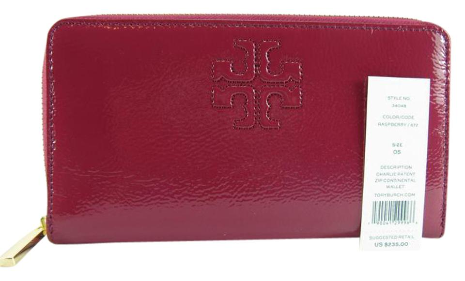 a324ee1f8 Tory Burch Charlie New Patent Leather Zip Continental Large Wallet ...