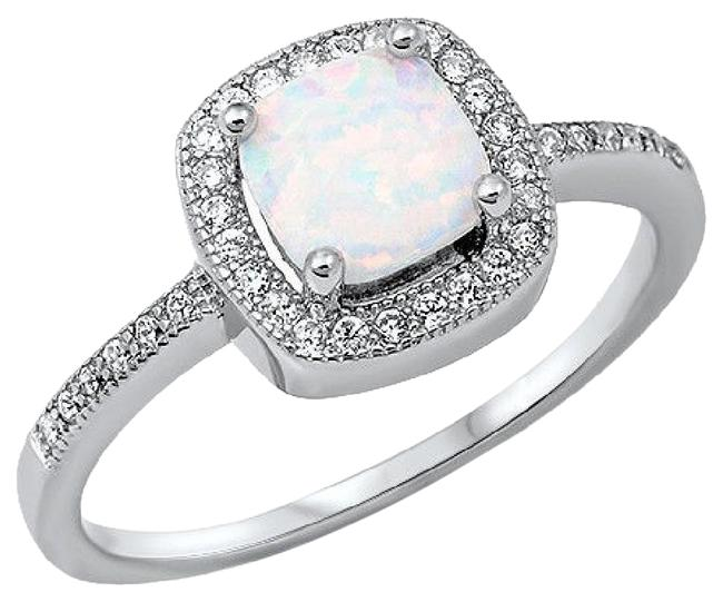 9.2.5 Opal Unique and White Sapphire Cocktail Size 9 Ring 9.2.5 Opal Unique and White Sapphire Cocktail Size 9 Ring Image 1