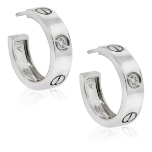 Cartier CARTIER WHITE GOLD DIMOND LOVE EARRINGS