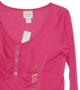 Self Esteem Medium Med M Knit Henely Top Strawberry