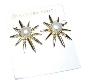 Kendra Scott Kendra Scott Rogan Starburst Spiked Stud Pearl Post Earrings Goldtone