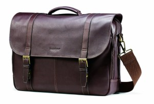 Samsonite Leather Colombian Laptop Briefcase Laptop Bag