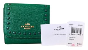 Coach Coach Small Rivets Wallet Green