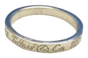 Tiffany & Co. Authentic Tiffany & Co Notes Band Ring in Sterling Silver Size 7
