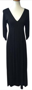 black Maxi Dress by Bread N Butter Maxi V-neck 3/4 Sleeve