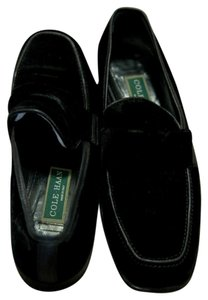 Cole Haan Women Designer Loafers Black Velvet Flats
