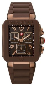 Michele $400 NWT Park Jelly Bean Watch, Brown / Rose Gold watch MWW06L000007