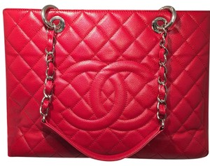 Chanel Tote in True Red
