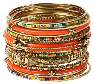 Amrita Singh Amrita Singh Gorgeous New Monaco Multi Color Materials Bangle Bracelets 8