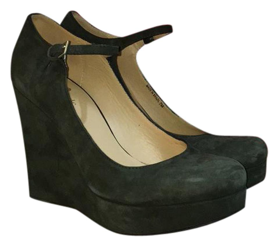 0e26a087f6d Kate Spade Green Mary Jane Wedges Size US 7 Regular (M