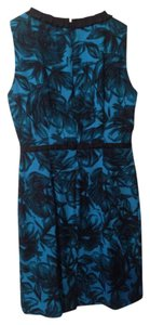 Donna Ricco short dress Sapphire blue and black on Tradesy