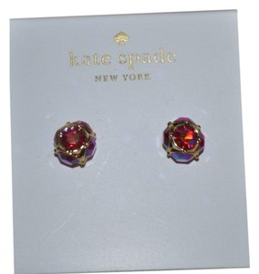 Kate Spade NWT KATE SPADE LADY MARMALADE STUD EARRINGS GOLD PINK W DUST BAG