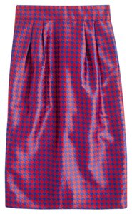 J.Crew Pencil Houndstooth Jacquard Skirt