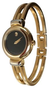 Movado MOVADO Gold/Black Ladies Bangle Watch